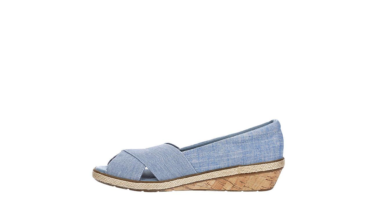 GRASSHOPPERS Womens Peach Flat - BLUE