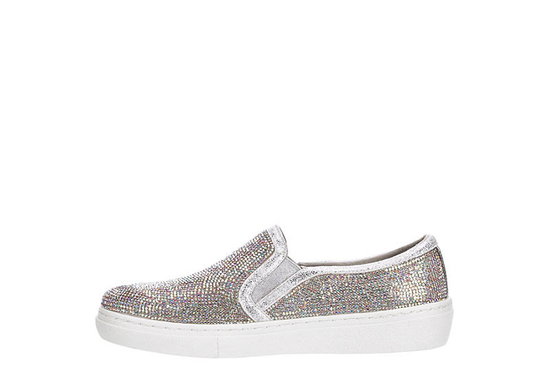 SKECHERS Womens Flashow Slip On Sneaker - SILVER