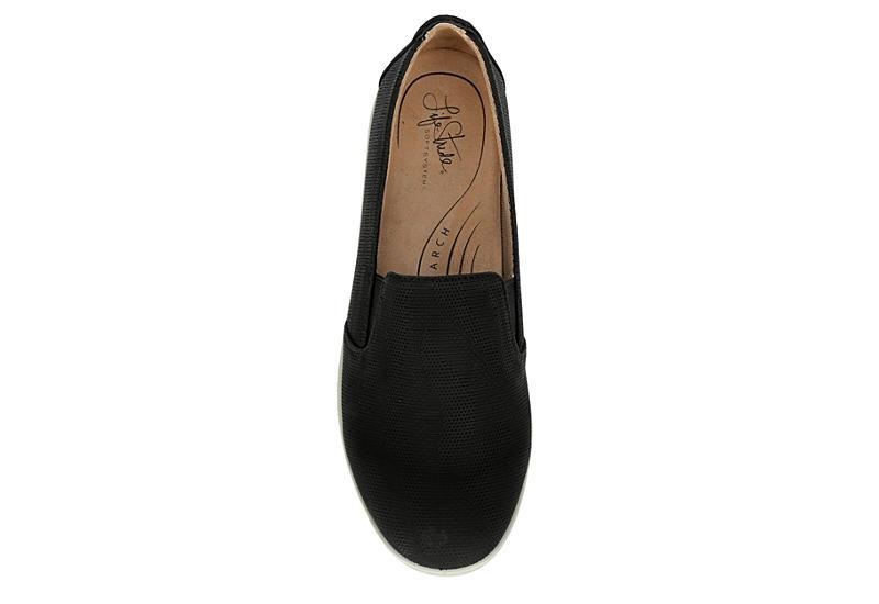 LIFESTRIDE Womens Neon Slip On Sneaker - BLACK