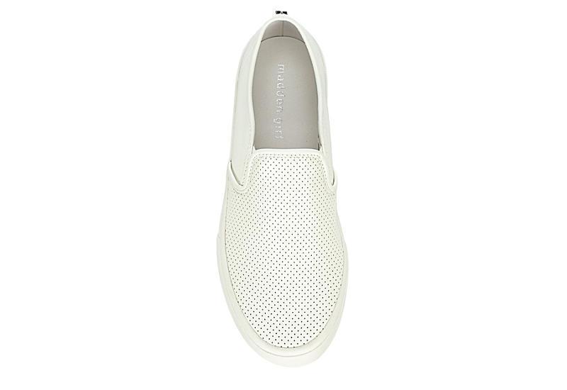 MADDEN GIRL Womens Luna Slip On Sneaker - WHITE