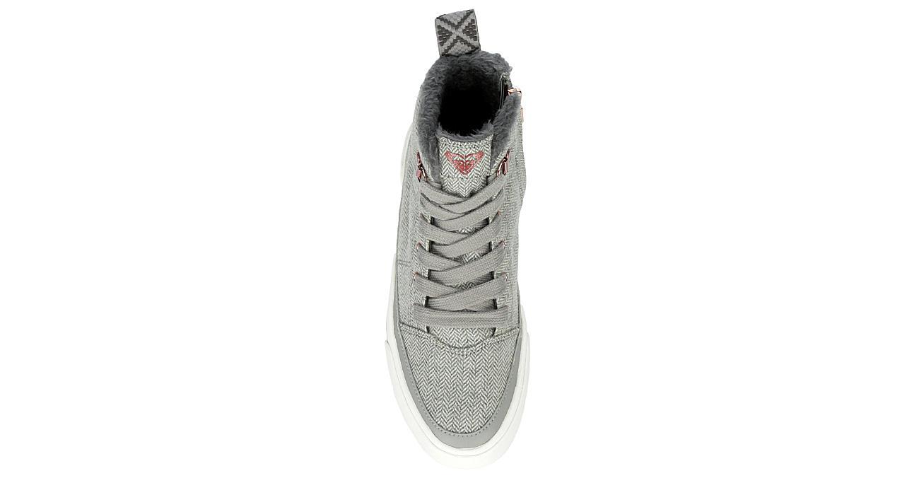 ROXY Womens Ivan Fur High Top Sneaker - GREY