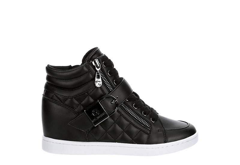 GBG Los Angeles Womens Dovely High Top Sneaker - BLACK