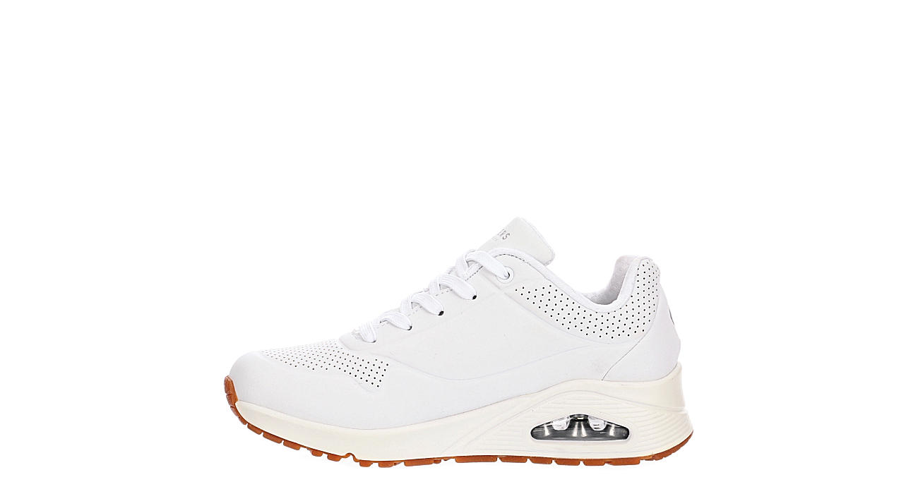 SKECHERS Womens Uno Stand On Air Sneaker - WHITE