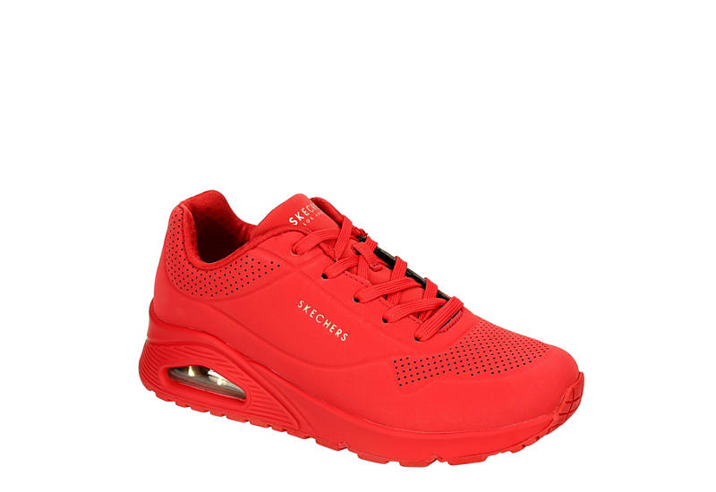 este Inmuebles Inactivo  Red Skechers Womens Uno Stand On Air Sneaker | Casual | Rack Room Shoes