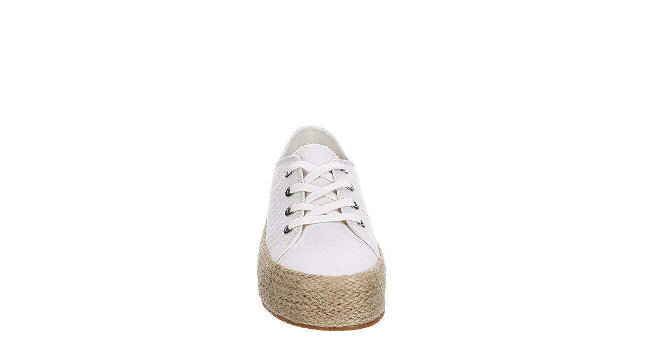 MADDEN GIRL Womens Miami Canvas Sneaker - WHITE