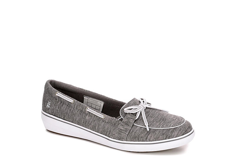 GRASSHOPPERS Womens Windsor Boat Shoe - GREY