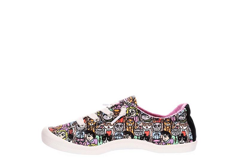 SKECHERS BOBS Womens Cat Of All Ages Slip On Sneaker - BLACK