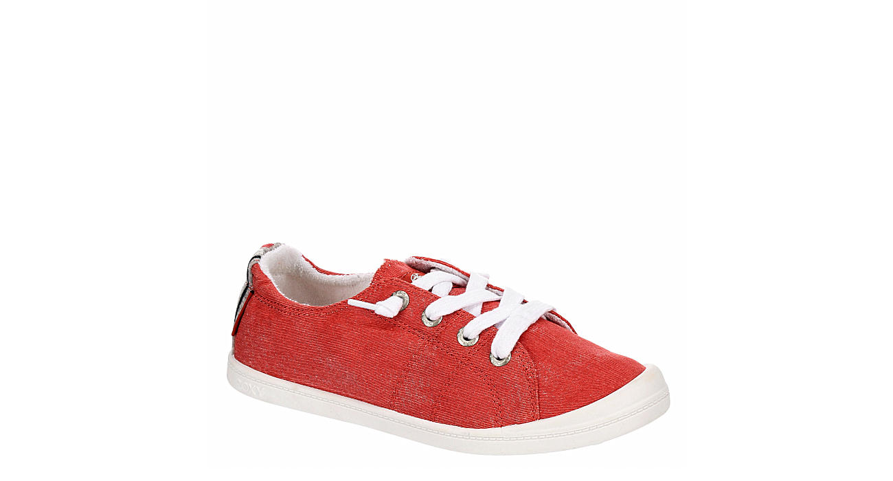 ROXY Womens Bayshore Slip On Sneaker - RED