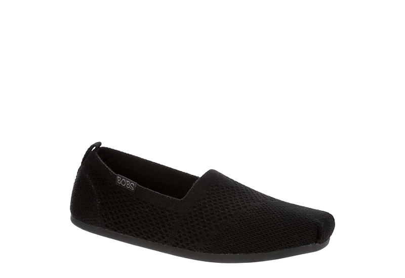 SKECHERS BOBS Womens Autumn Leaf Flat - BLACK