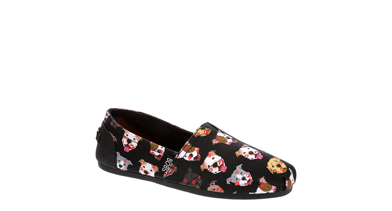 SKECHERS BOBS Womens Plush Kiss A Bulls - BLACK