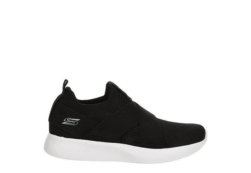 SKECHERS BOBS Womens Kid Cool Mesh Sneaker - BLACK