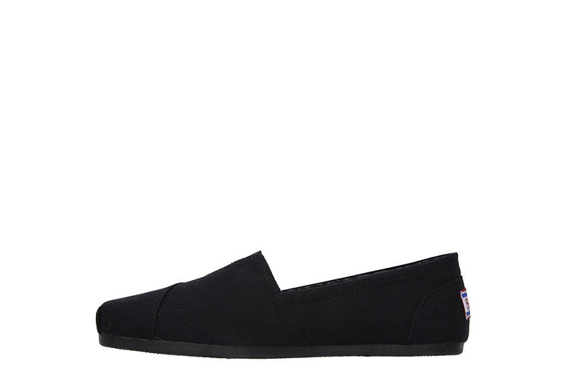 SKECHERS BOBS Womens Peace And Love Flat - BLACK