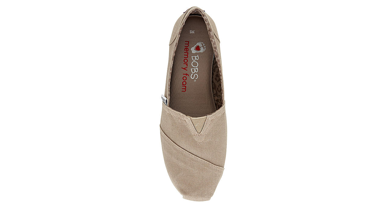 SKECHERS BOBS Womens Peace And Love Flat - TAUPE