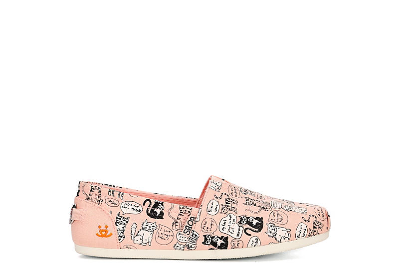 SKECHERS BOBS Womens Plush Quote Me - PALE PINK