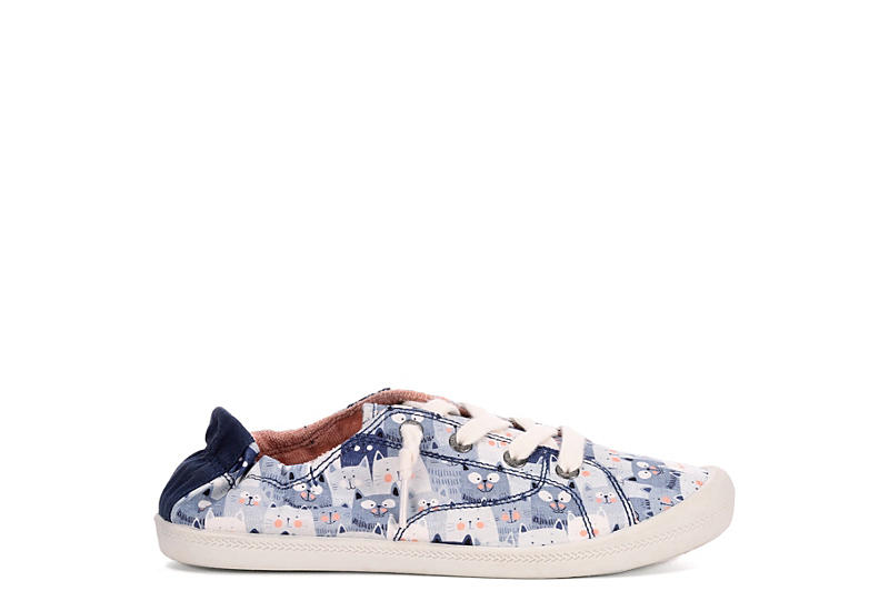 SKECHERS BOBS Womens Beach Bingo Kitty Concert - NAVY