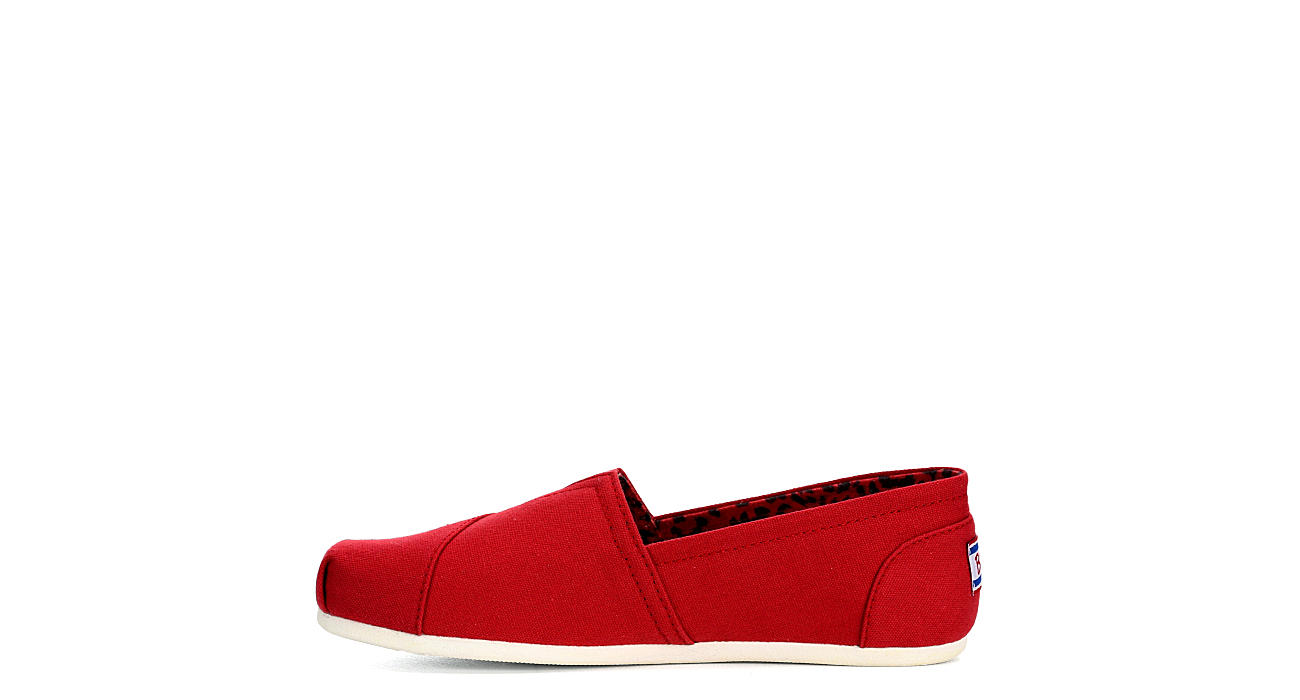 SKECHERS BOBS Womens Plush Peace And Love - RED