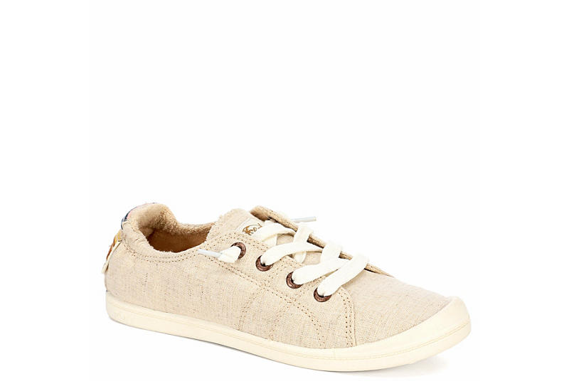 ROXY Womens Bayshore Slip On Sneaker - TAN