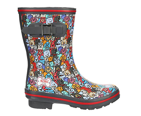 Womens Woof Party Print Rain Boot