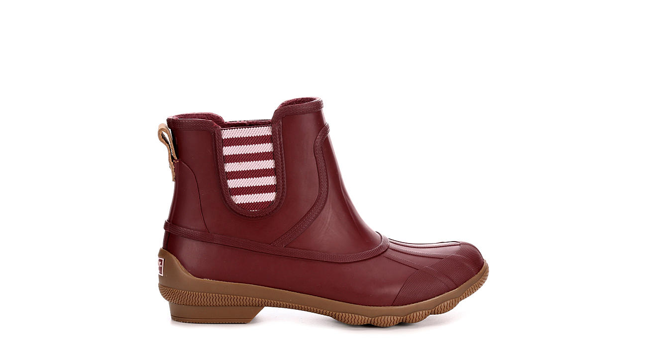 SPERRY Womens Syren Cove Duck Boot - BURGUNDY
