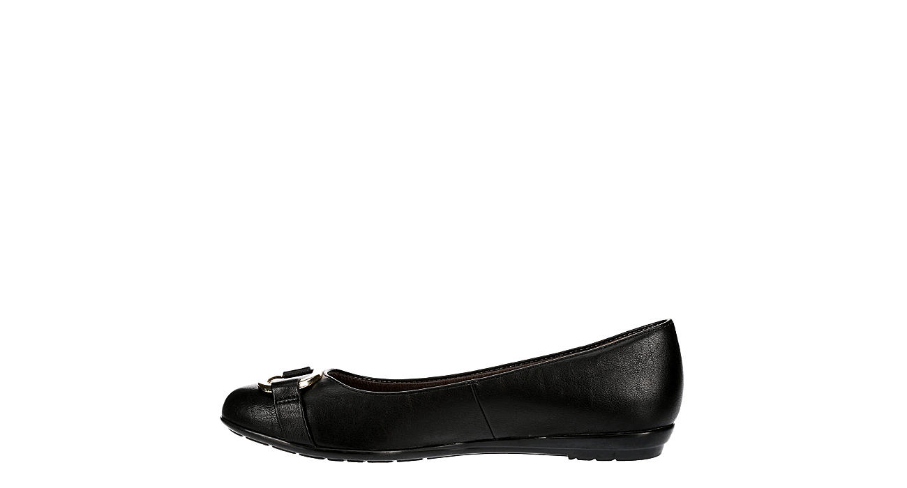 EUROSOFT Womens Beverly Flat - BLACK
