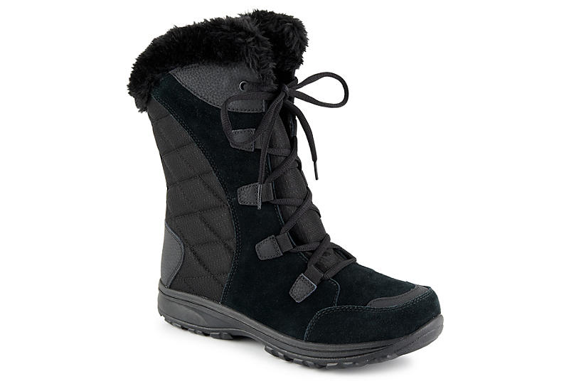 Columbia Shoes Columbia Ice Maiden Lace Womens Boots Black/Grey