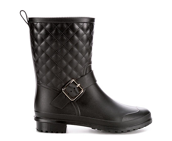 Womens Quilted Rain Boot