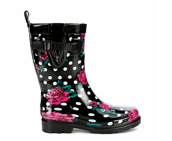 Womens Floral And Dots