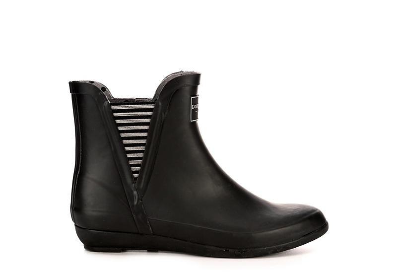 LONDON FOG Womens Piccadilly Rain Boot - BLACK