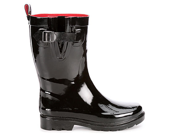 Womens Basic Mid Calf Rain Boot