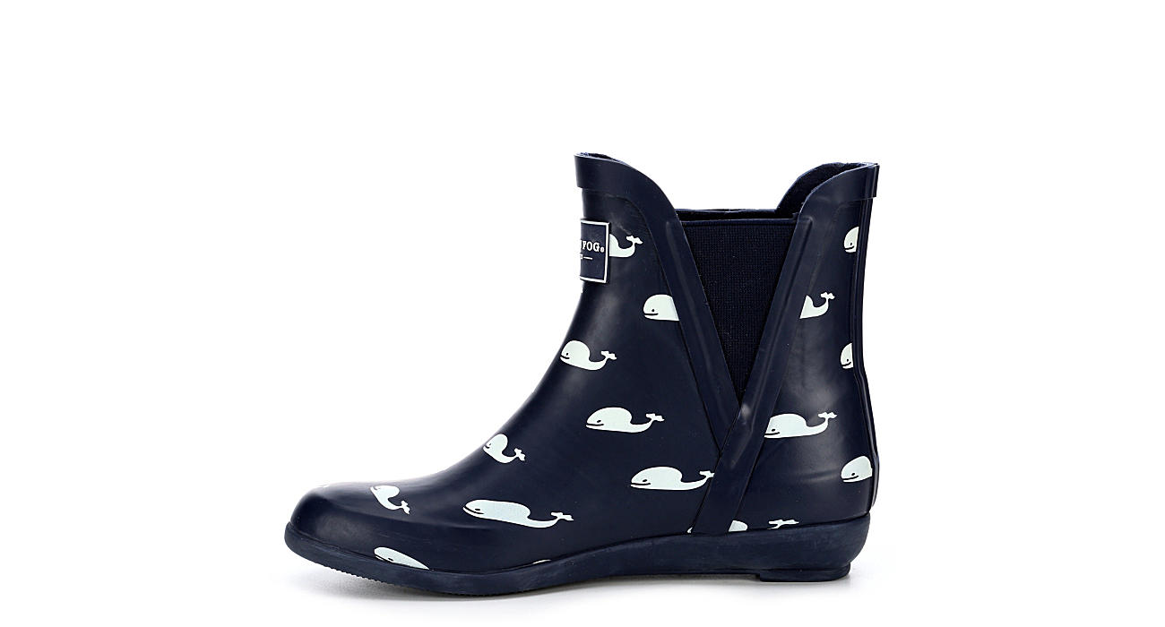 LONDON FOG Womens Piccadilly Rain Boot - NAVY