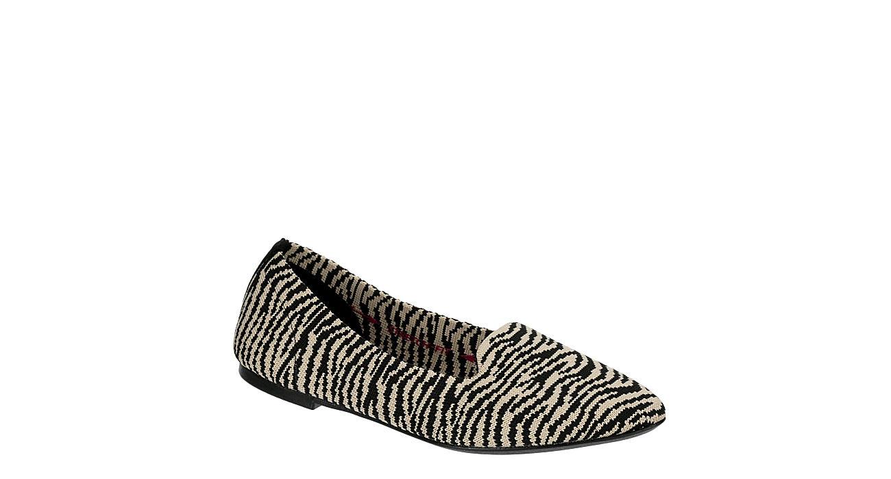 SKECHERS Womens Knitty Kitty Flat - ZEBRA