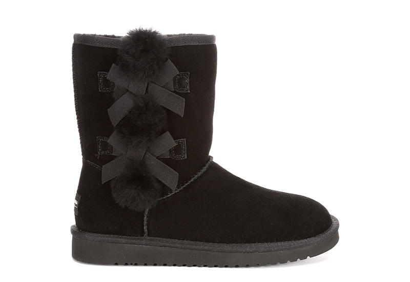 KOOLABURRA by UGG Womens Victoria Short Fur Boot - BLACK
