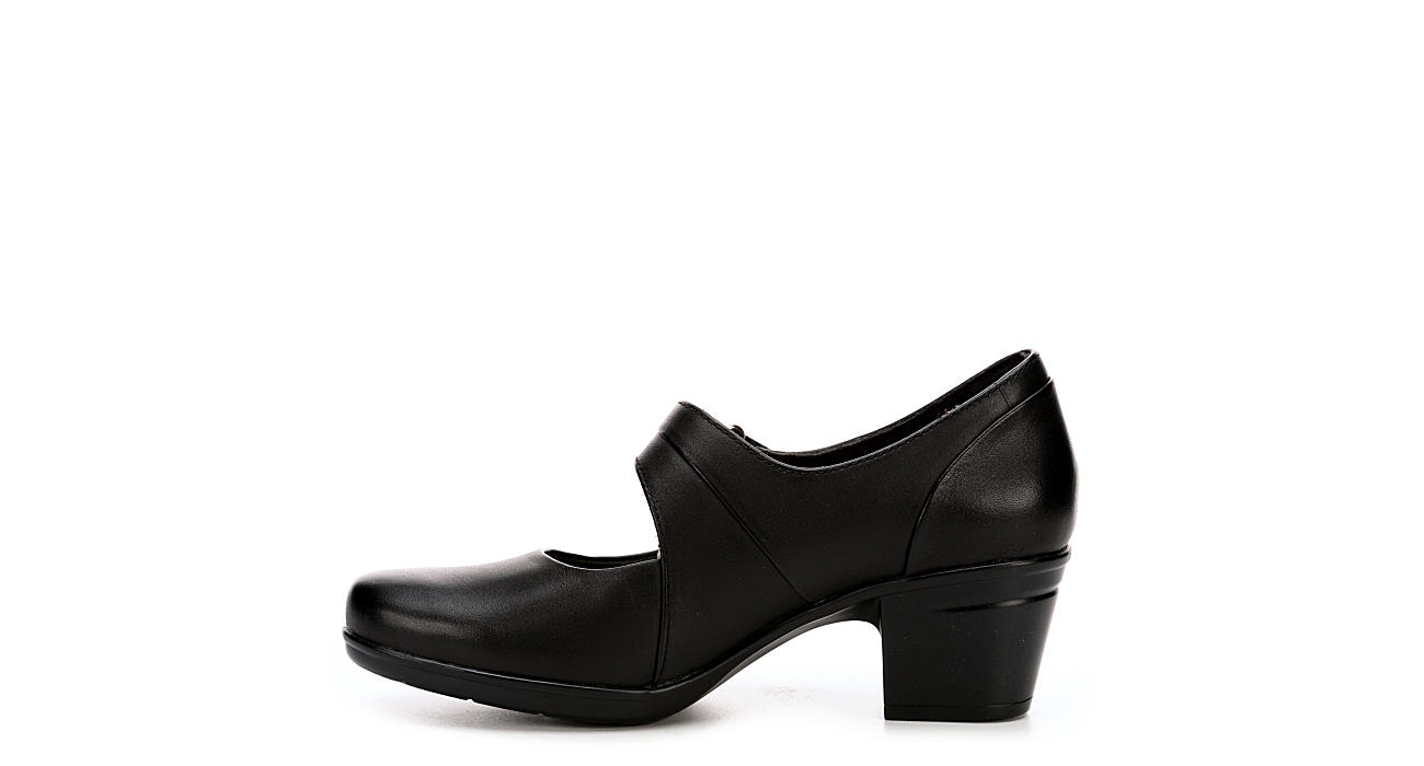 CLARKS Womens Emslie Lulin - BLACK
