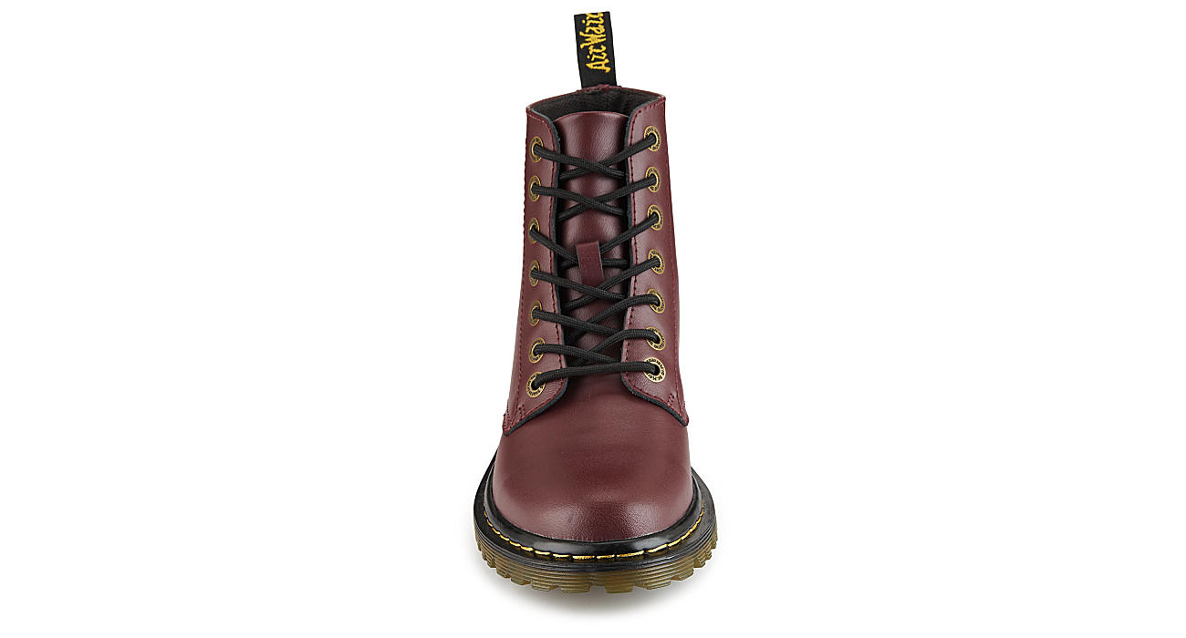 DR.MARTENS Womens Luana Combat Boot - RED