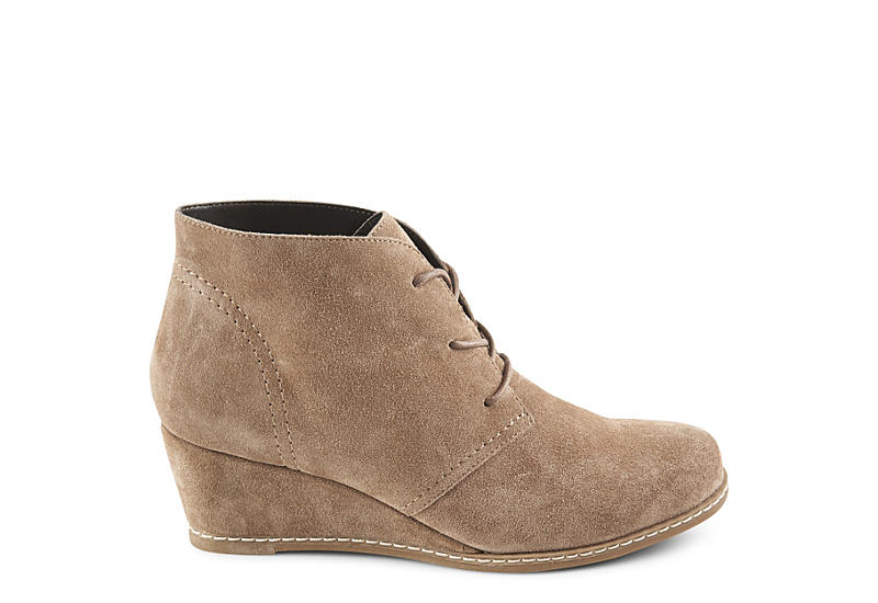 BJORNDAL Womens Rachel Wedge Lace-up Bootie - TAUPE