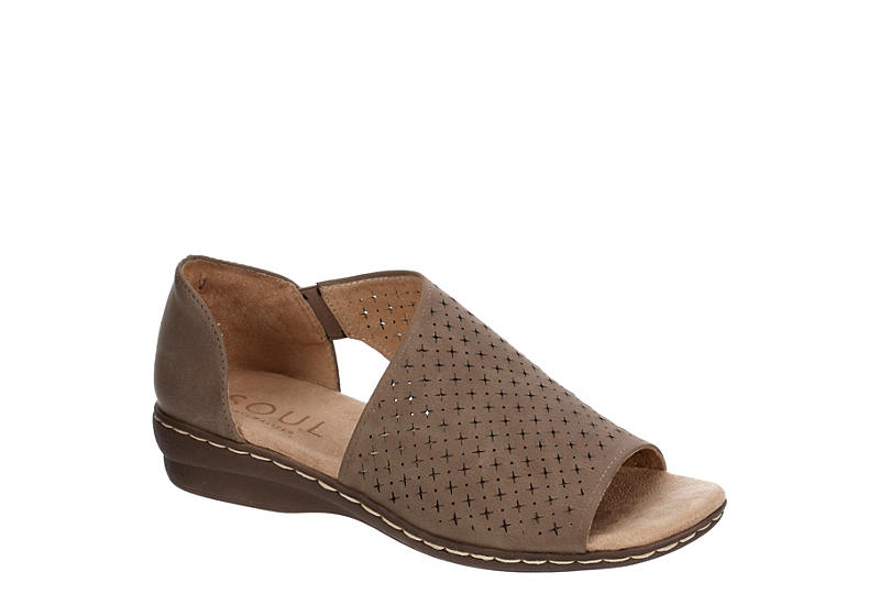 NATURAL SOUL BY NATURALIZER Womens Brylan Sandal - TAUPE