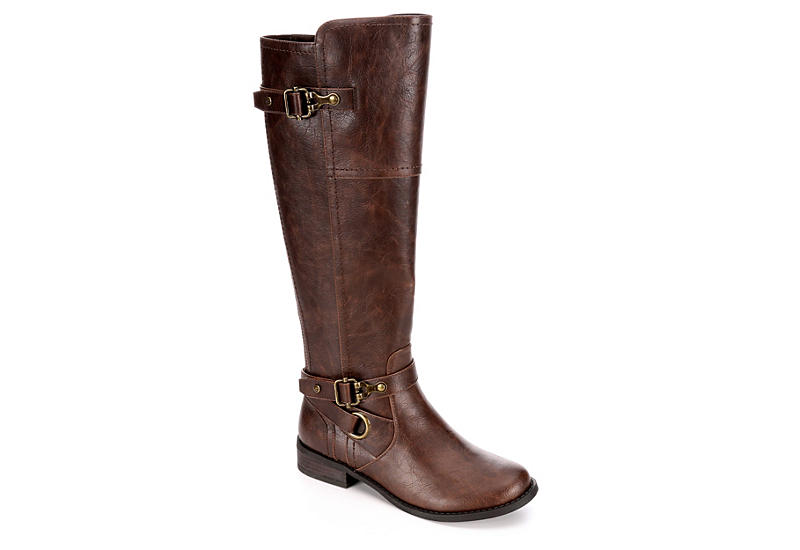 0e8cedd2 Brown G by Guess Harvest Wide Calf Riding Boots | Rack Room Shoes
