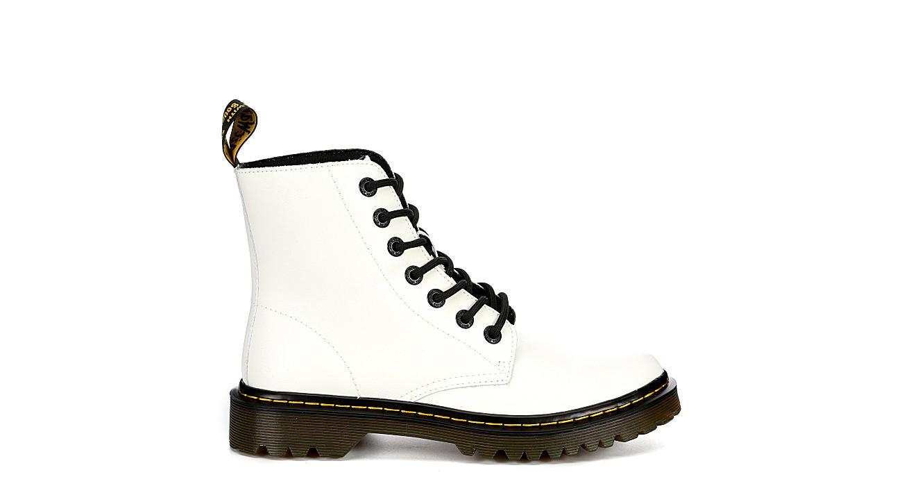 DR.MARTENS Womens Luana Combat Boot - WHITE