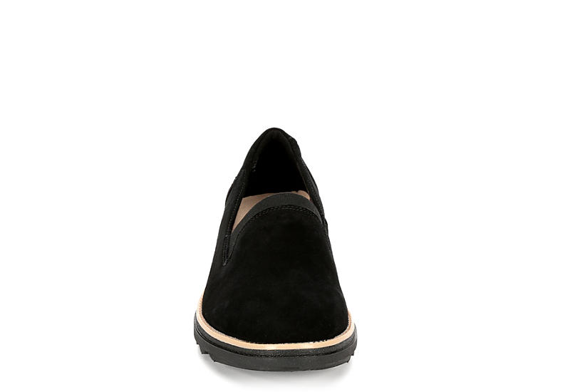 CLARKS Womens Sharon Dolly Loafer - BLACK