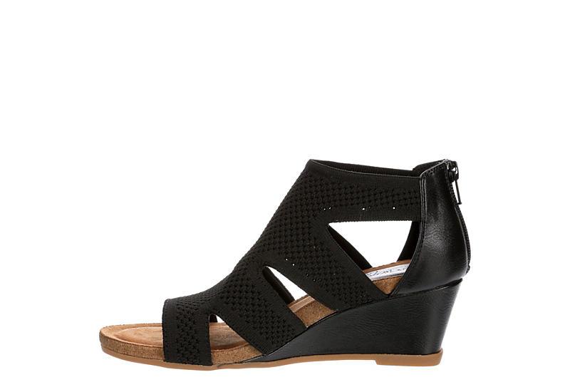EUROSOFT Womens Sancia Wedge Sandal - BLACK