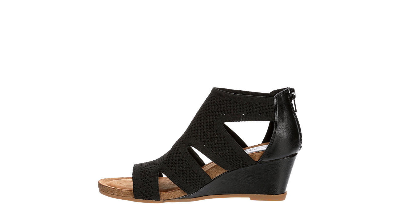 EUROSOFT Womens Sancia Wedge Sandal - BLACK