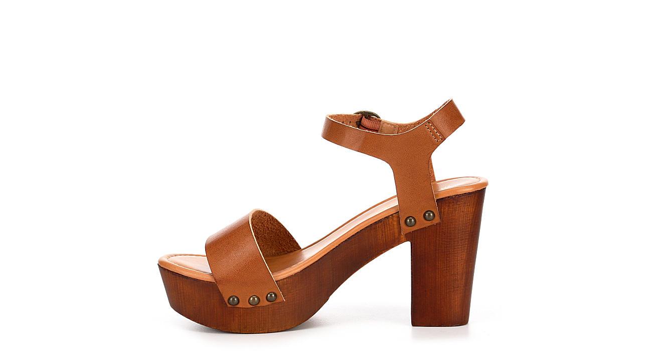 MADDEN GIRL Womens Lifft Sandal - COGNAC