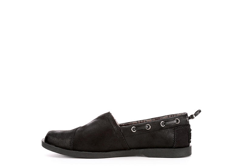 SKECHERS BOBS Womens Buttoned Up - BLACK