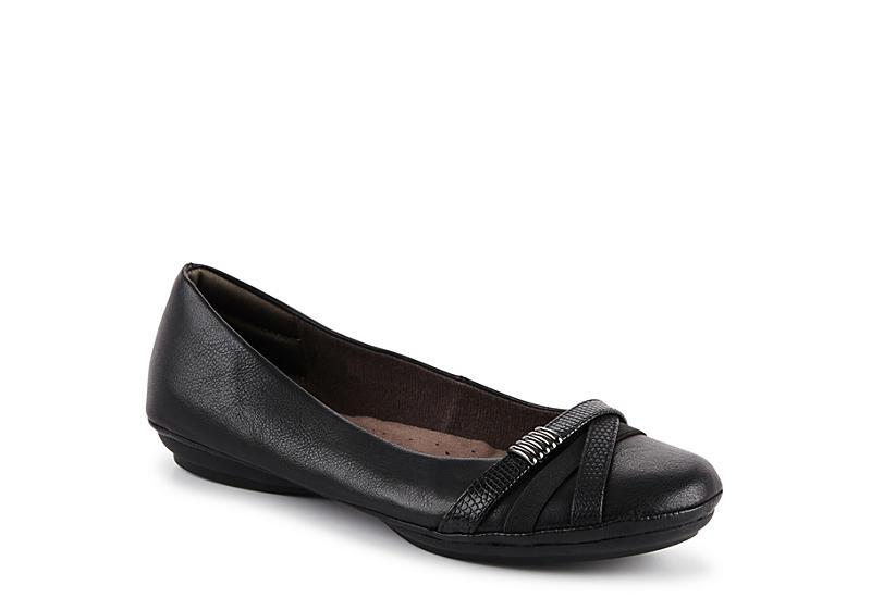 EUROSOFT Womens Shaina Flat - BLACK