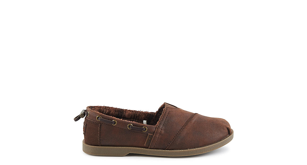 Skechers Bobs Womens Chill Luxe Buttoned Up Brown