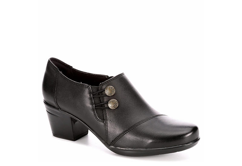 e4b5ffb387 Black Clarks Emslie Warren Women s Booties