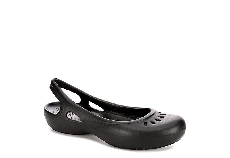 1957c07a3a8f57 Crocs Womens Kadee Slingback Flat - Black