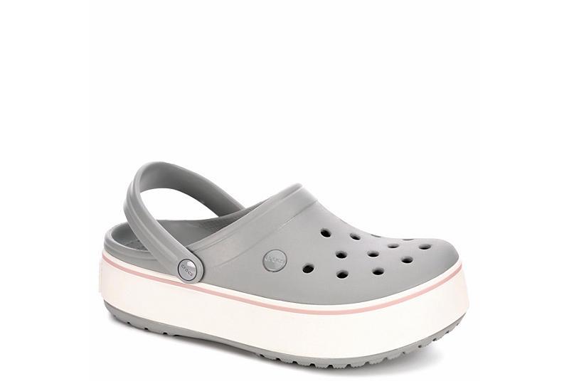 07213a403900c Crocs Womens Classic Crocband Platform Clog - Pale Grey