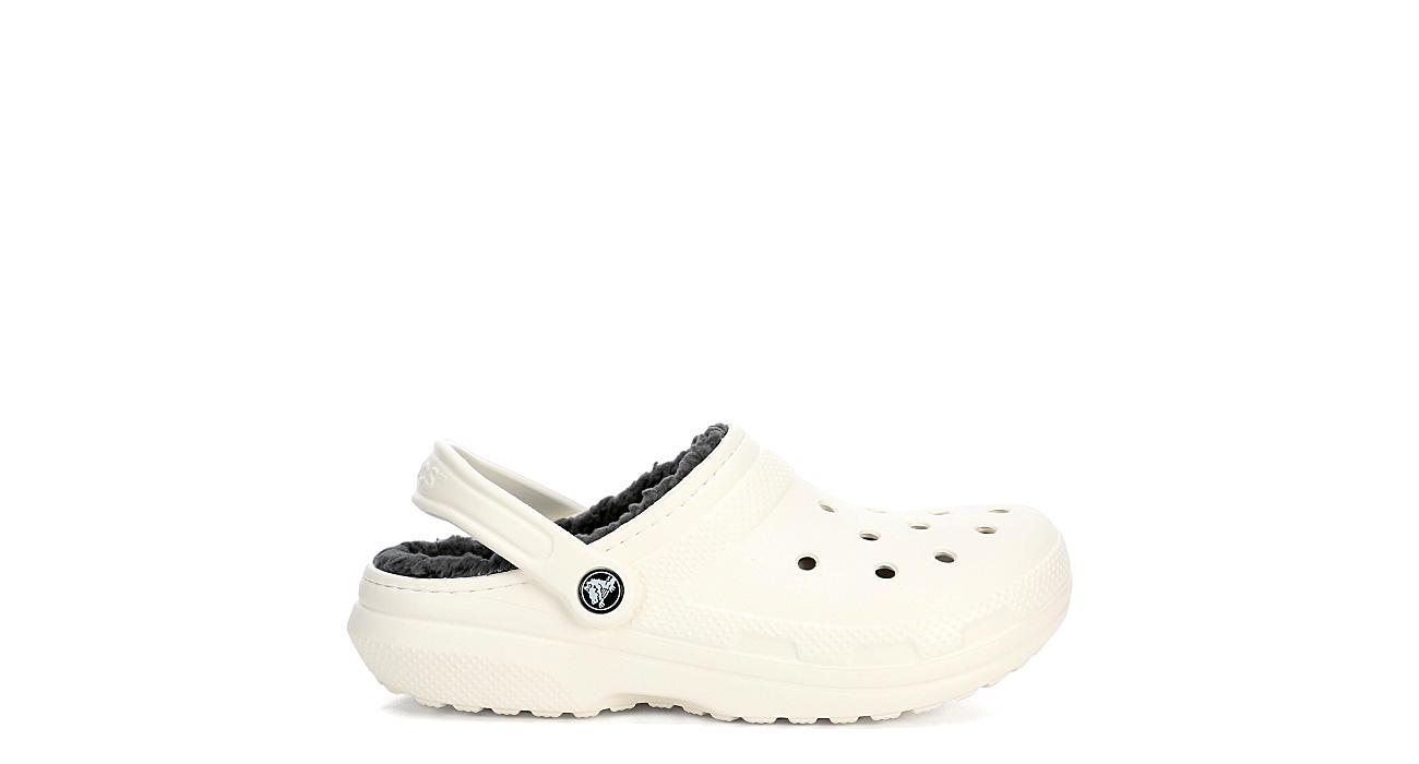 ebf5b4d71 White Crocs Classic Fuzz Lined Women s Clog