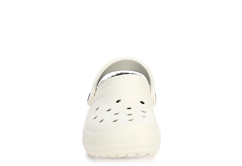 CROCS Womens Classic Lined Clog - WHITE
